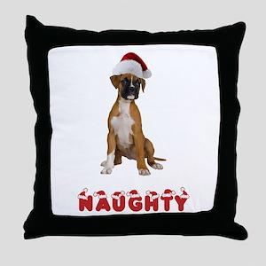 Naughty Boxer Throw Pillow