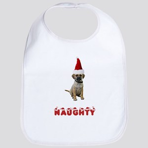 Naughty Puggle Bib