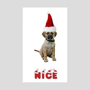 Nice Puggle Rectangle Sticker