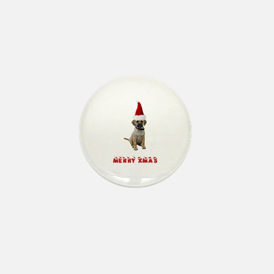 Puggle Christmas Mini Button