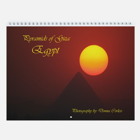 Pyramids of Giza Wall Calendar
