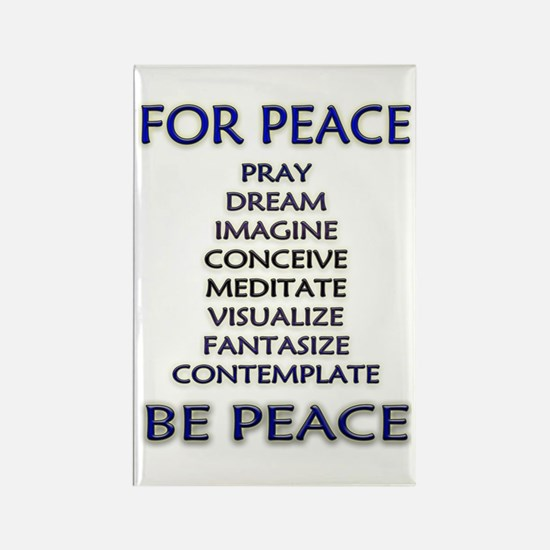 Cute Visualize world peace Rectangle Magnet