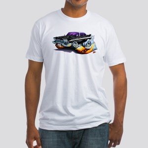 1958-59 Fury Black Car Fitted T-Shirt