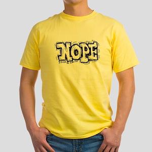 Nope Yellow T-Shirt
