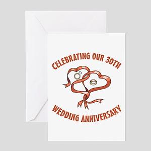 30th Greeting Card