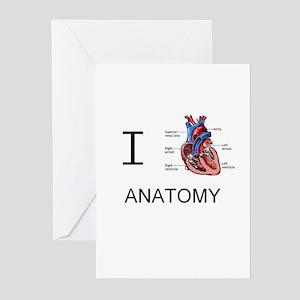 I heart anatomy.JPG Greeting Cards