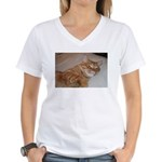 Cat Nap Women's V-Neck T-Shirt