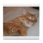 Cat Nap Tile Coaster