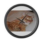 Cat Nap Large Wall Clock
