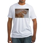 Cat Nap Fitted T-Shirt