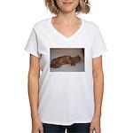 Tabby Women's V-Neck T-Shirt