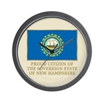 New Hampshire Proud Citizen Wall Clock