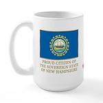 New Hampshire Proud Citizen Large Mug