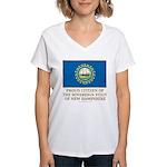 New Hampshire Proud Citizen Women's V-Neck T-Shirt