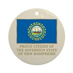 New Hampshire Proud Citizen Ornament (Round)