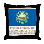 New Hampshire Proud Citizen Throw Pillow