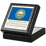 New Hampshire Proud Citizen Keepsake Box