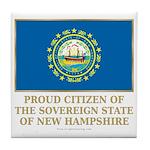 New Hampshire Proud Citizen Tile Coaster