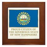 New Hampshire Proud Citizen Framed Tile