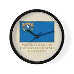 Nevada Proud Citizen Wall Clock