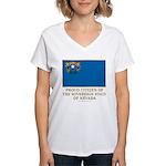 Nevada Proud Citizen Women's V-Neck T-Shirt