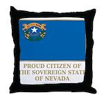 Nevada Proud Citizen Throw Pillow