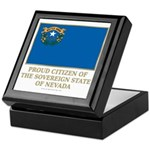 Nevada Proud Citizen Keepsake Box