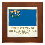 Nevada Proud Citizen Framed Tile