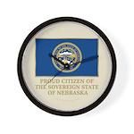 Nebraska Proud Citizen Wall Clock
