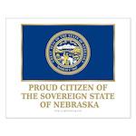Nebraska Proud Citizen Small Poster