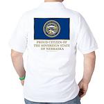 Nebraska Proud Citizen Golf Shirt