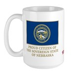 Nebraska Proud Citizen Large Mug