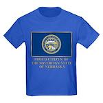 Nebraska Proud Citizen Kids Dark T-Shirt
