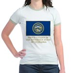 Nebraska Proud Citizen Jr. Ringer T-Shirt