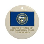 Nebraska Proud Citizen Ornament (Round)