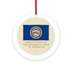 Nebraska Proud Citizen Ornament (Round)