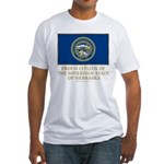Nebraska Proud Citizen Fitted T-Shirt