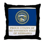 Nebraska Proud Citizen Throw Pillow