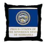 Nebraska Proud Citizen Throw Pillow