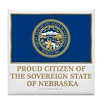 Nebraska Proud Citizen Tile Coaster