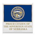 Nebraska Proud Citizen Tile Coaster
