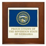 Nebraska Proud Citizen Framed Tile