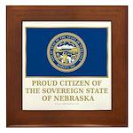 Nebraska Proud Citizen Framed Tile