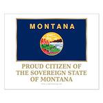 Montana Proud Citizen Small Poster
