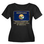 Montana Proud Citizen Women's Plus Size Scoop Neck