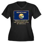 Montana Proud Citizen Women's Plus Size V-Neck Dar