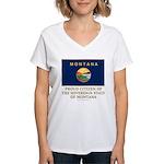 Montana Proud Citizen Women's V-Neck T-Shirt