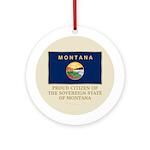 Montana Proud Citizen Ornament (Round)