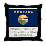 Montana Proud Citizen Throw Pillow