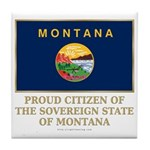 Montana Proud Citizen Tile Coaster